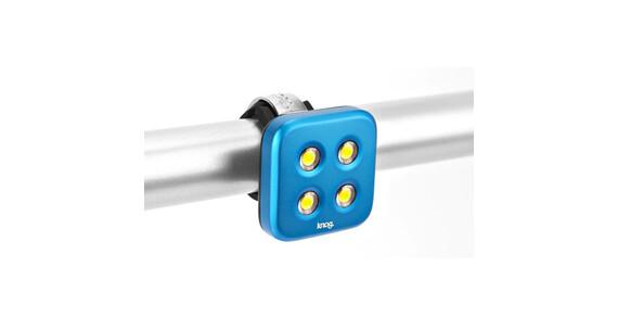 Knog Blinder Forlygte 4 hvid LED standard blå